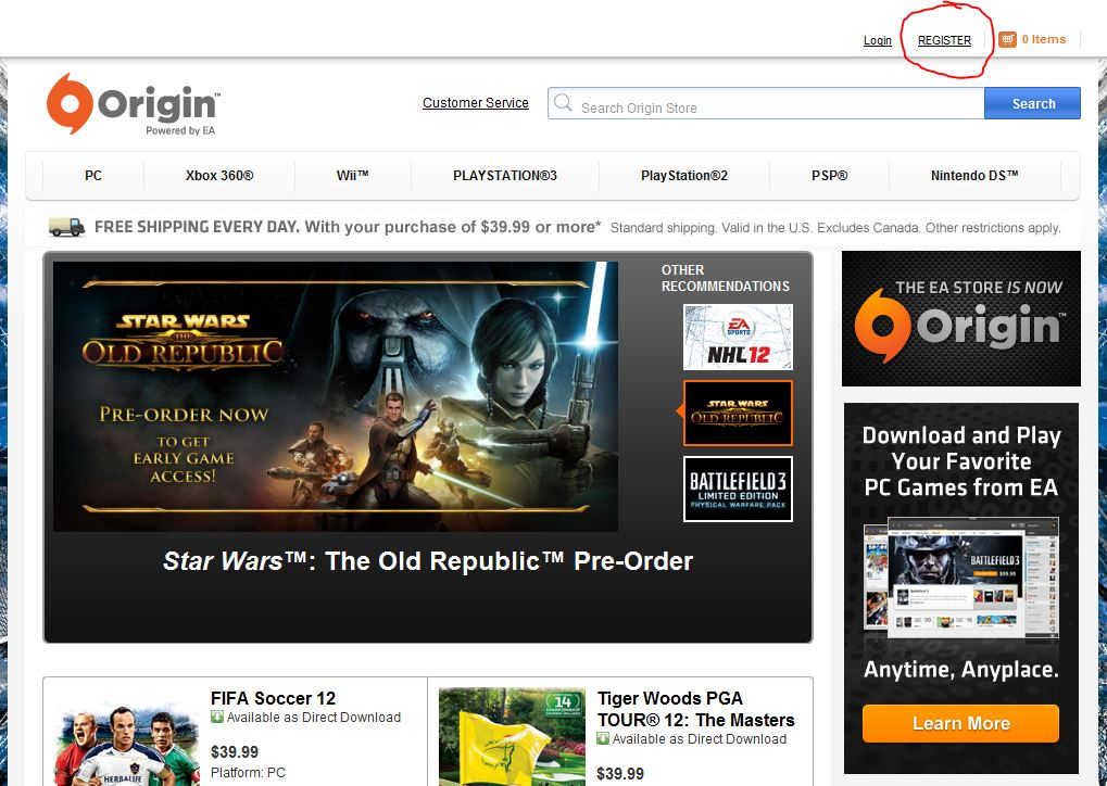 Origin discount coupon